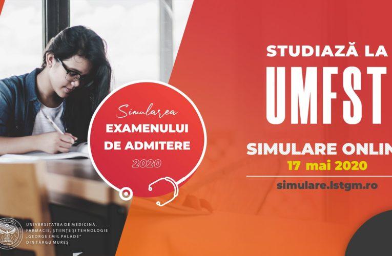 Simularea examenului de admitere la UMFST se va desfășura online