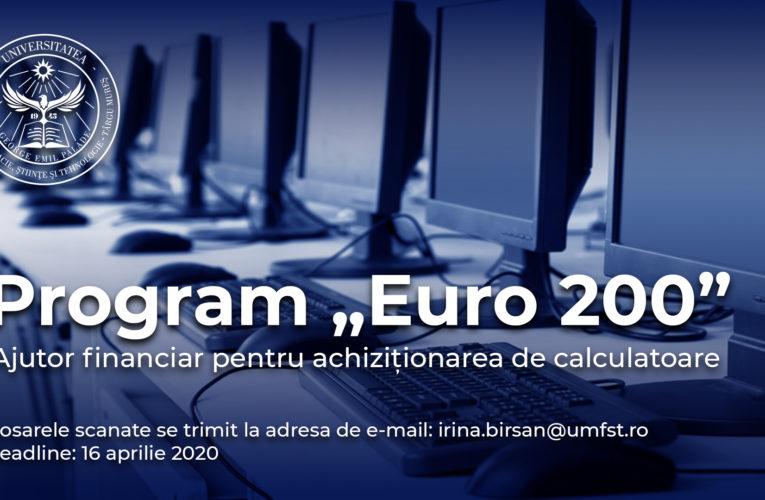 """Programul """"Euro 200"""", disponibil pentru studenții UMFST"""