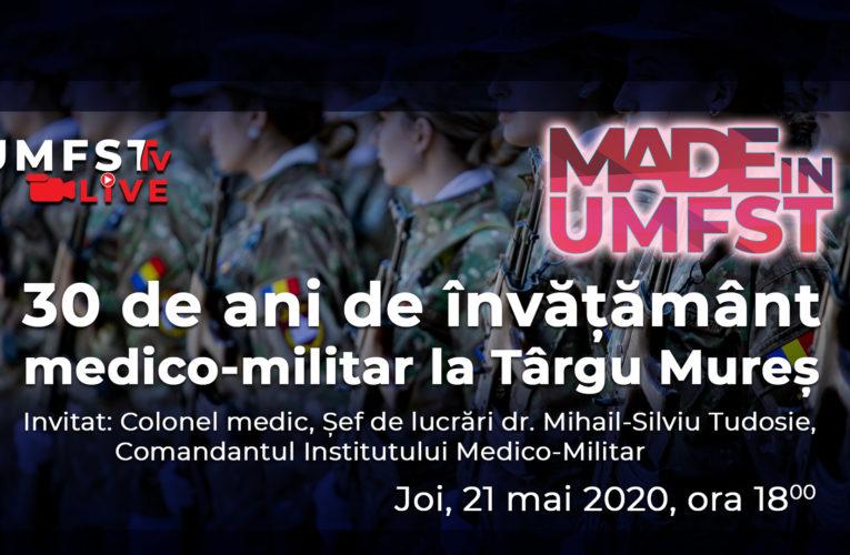 30 de ani de învățământ medical militar la Târgu Mureș