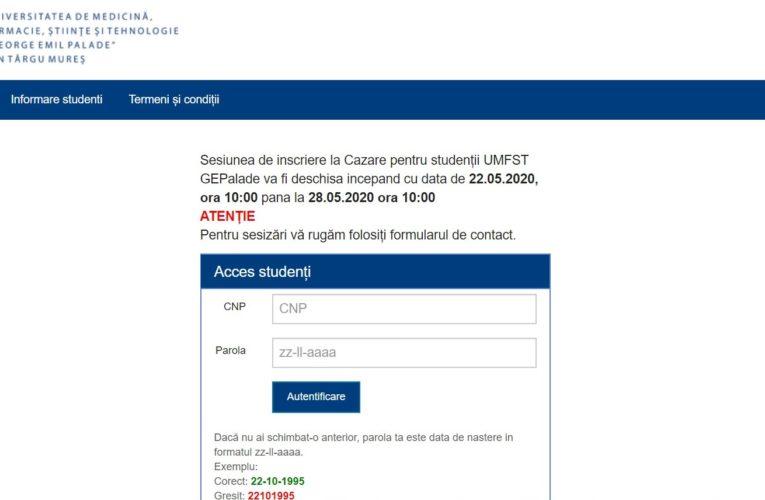 Cereri online pentru cazarea în căminele studențești în anul universitar 2020-2021