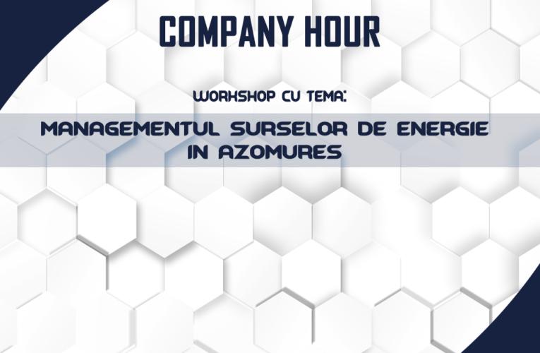 Un nou workshop online în cadrul programului Company Hour