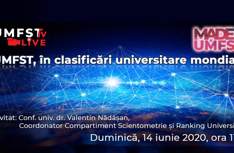 UMFST, în clasificări universitare mondiale!