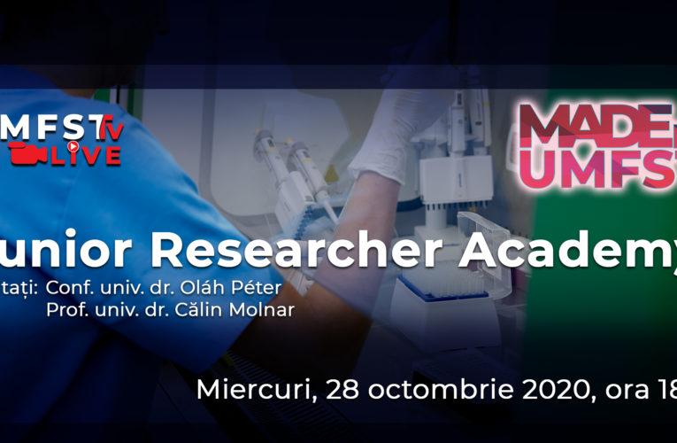 Junior Researcher Academy la UMFST!