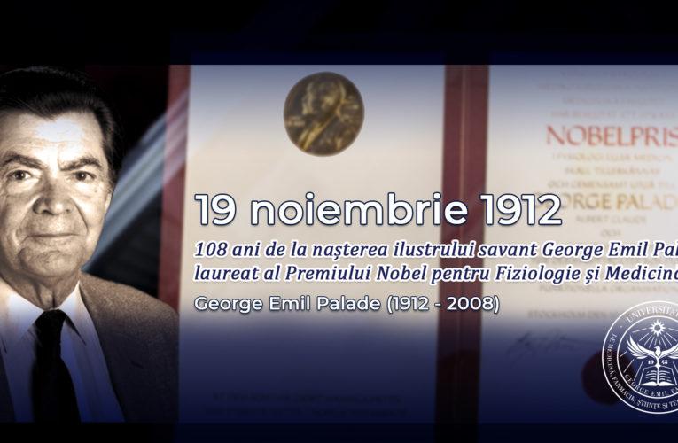 108 ani de la nașterea ilustrului savant George Emil Palade, laureat  al Premiului Nobel pentru Fiziologie și Medicină