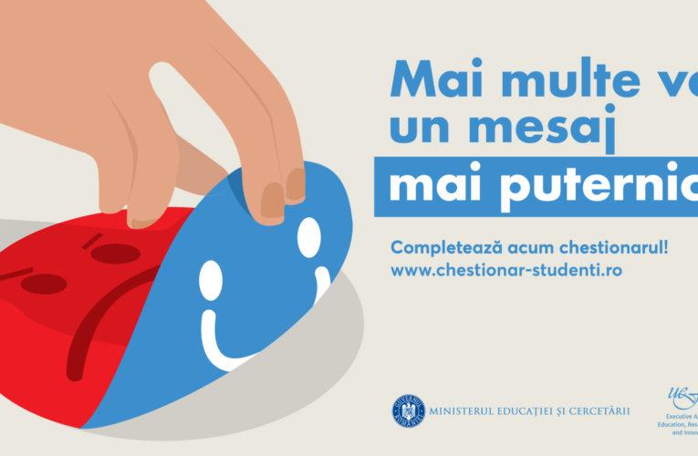 Cercetare privind condițiile de studiu şi de viață ale studenţilor din România