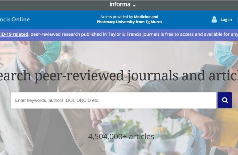 Acces gratuit la colecții de reviste din domeniile medicină, tehnologie și științe umaniste