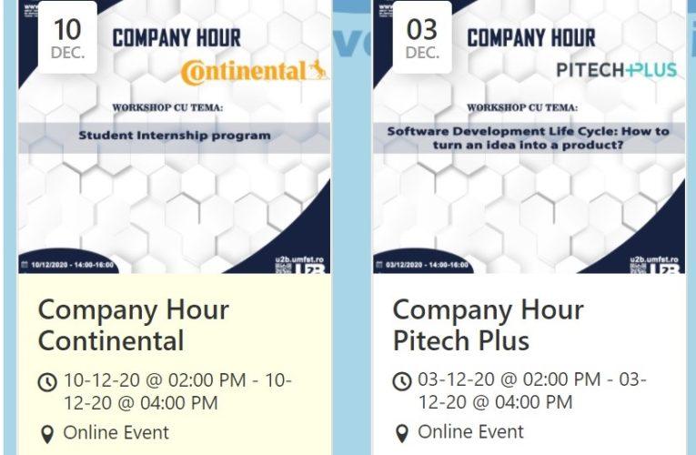 """Programul workshop-urilor """"Company hour"""" în luna decembrie"""