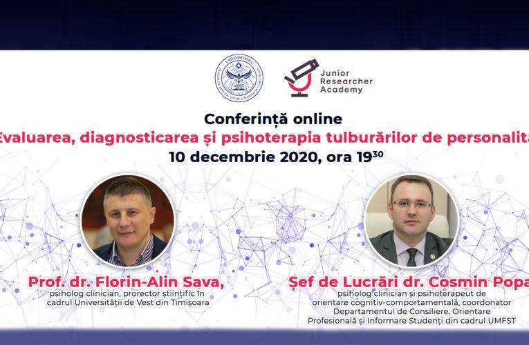 Conferință online pe tema tulburărilor de personalitate
