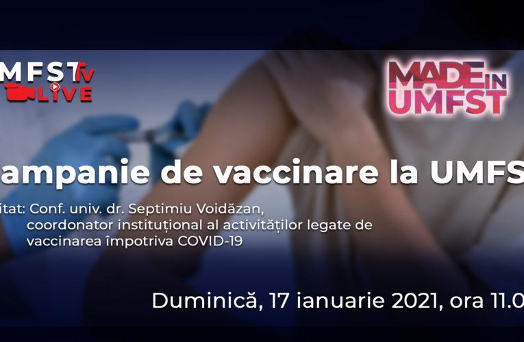 Emisiune despre campania de vaccinare de la UMFST