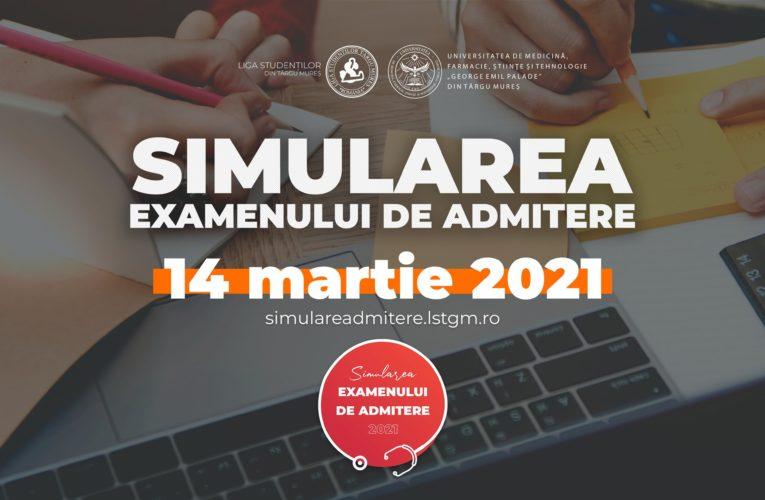Prima simulare a examenului de admitere la UMFST Târgu Mureș