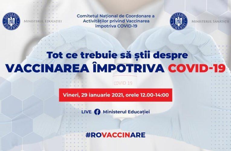 Webinar live despre vaccinarea împotriva COVID-19