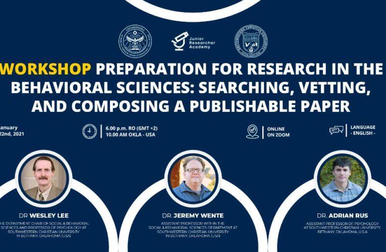 Colaborare academică între Junior Researcher Academy și Southwestern Christian University