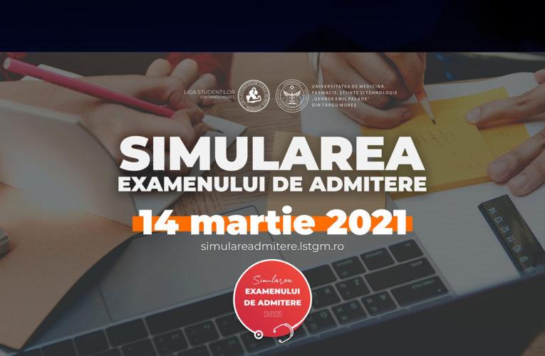Simularea examenului de admitere la UMFST