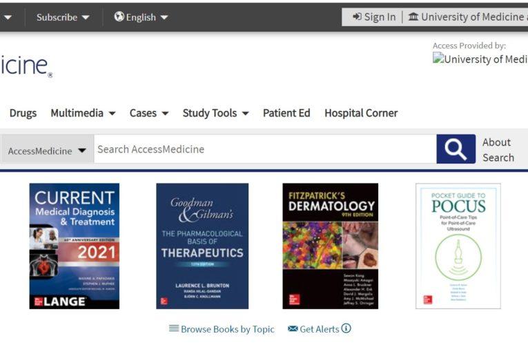 Acces gratuit la sute de cărți electronice din domeniul medical