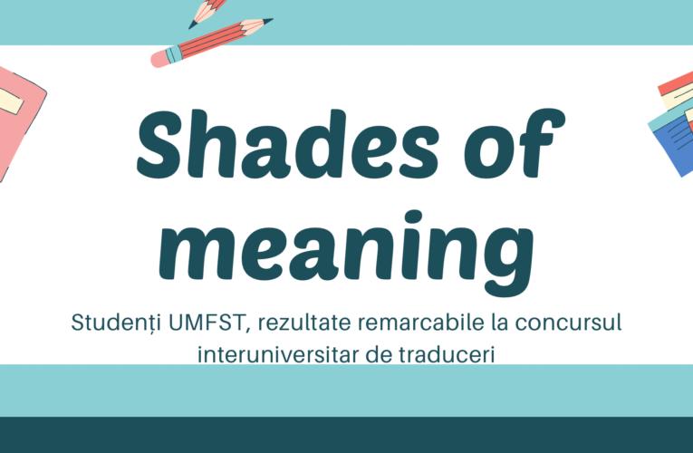 Studenți UMFST, rezultate remarcabile la un concurs interuniversitar de traduceri