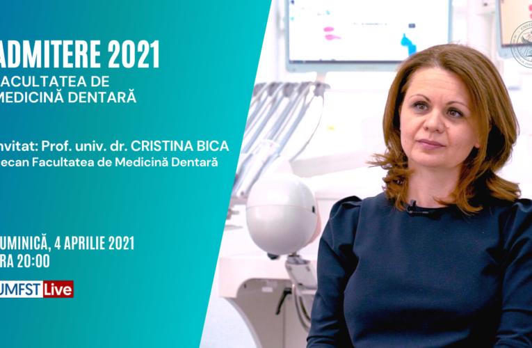 Admitere 2021 – Facultatea de Medicină Dentară