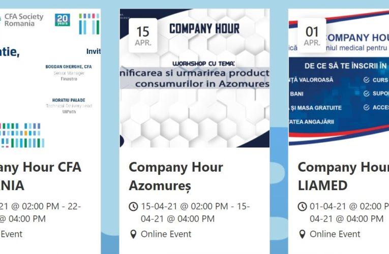 """Programul workshop-urilor """"Company hour"""" în luna aprilie"""