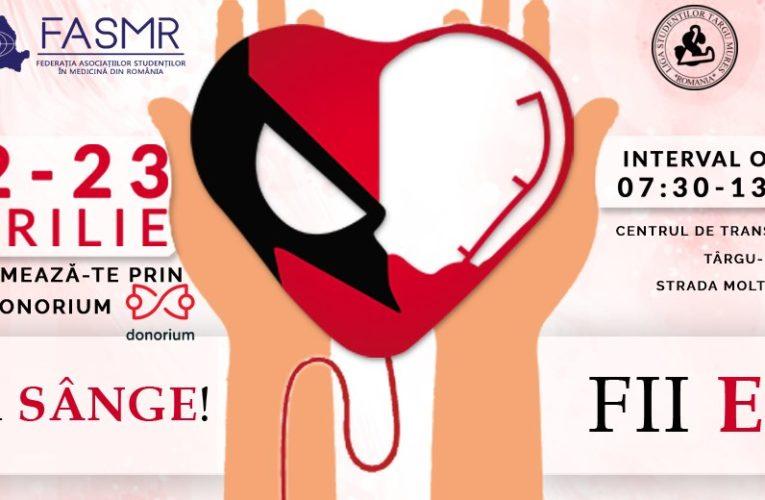 Campanie de donare de sânge la Târgu Mureș