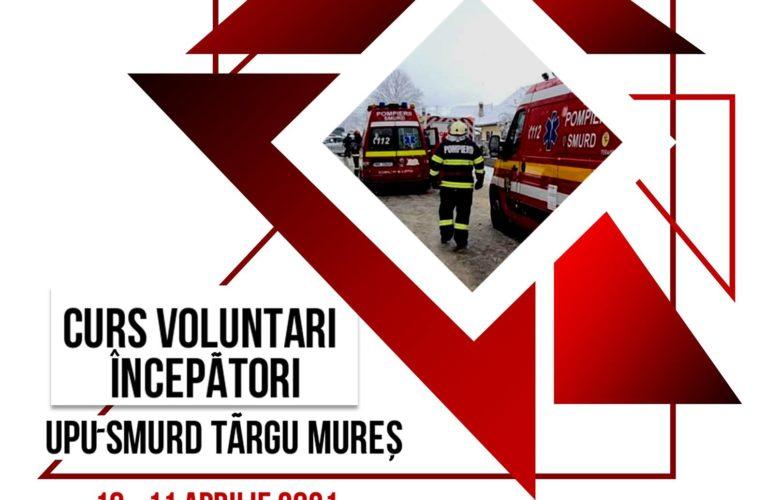 Curs pentru voluntari începători la UPU-SMURD Târgu Mureș