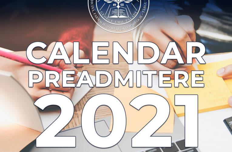 Calendarul preadmiterii la UMFST