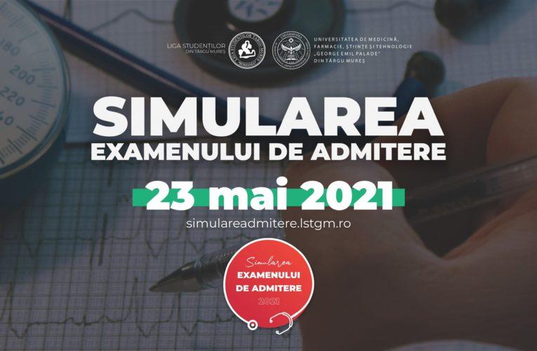 A doua simulare a examenului de admitere la UMFST Târgu Mureș