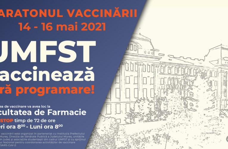 Maratonul vaccinării. UMFST vaccinează fără programare!
