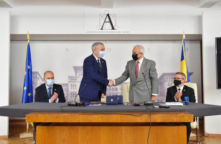 """Parteneriat între UMFST """"George Emil Palade"""" din Târgu Mureș și Universitatea de Arhitectură și Urbanism """"Ion Mincu"""" din București"""