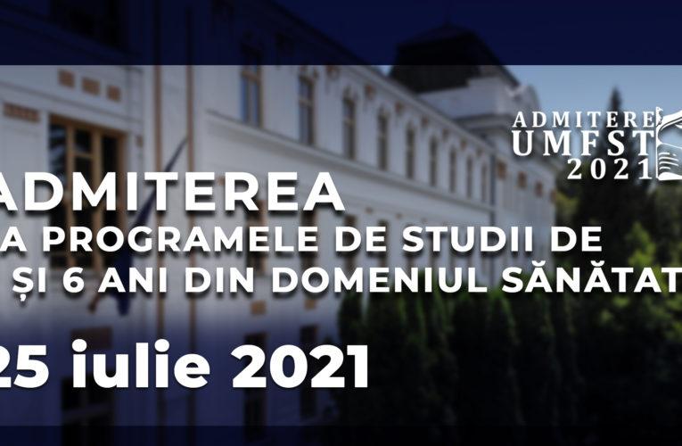 Duminică va avea loc examenul de admitere la UMFST