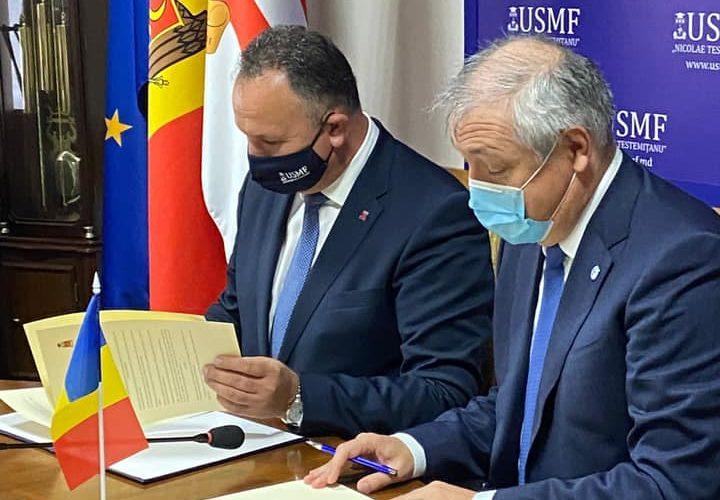 Acord de colaborare academică între UMFST și Universitatea de Stat de Medicină și Farmacie din Republica Moldova