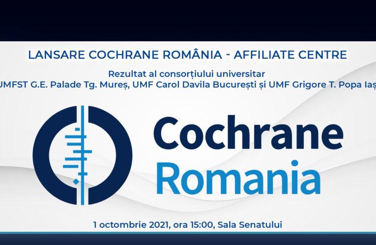 Lansarea Cochrane România – Affiliate Centre