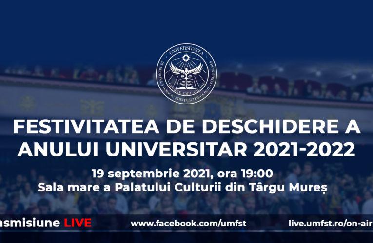 Festivitatea de deschidere a anului universitar 2021-2022